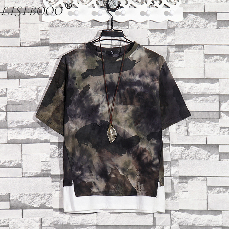 Summer New Fashion Retro Print Men T Shirt Camouflage Short-sleeved T-shirt Male Round Neck Loose Large Size T-shirt 3