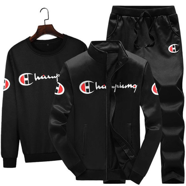 3 Pieces Sets (Jacket+Pant+hoodies) Tracksuit Men Sporting Brand-Clothing Casual Track Suit Men chandal hombre Slim Tracksuit