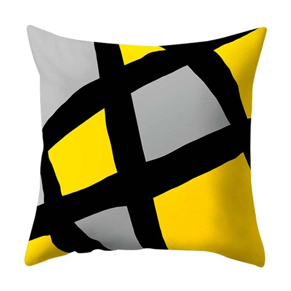 Polyester Geometric Cushion Yellow Pineapple Pillow Decorative Cushion for Sofa DIY Printed Pillow Seat Chair Cushion