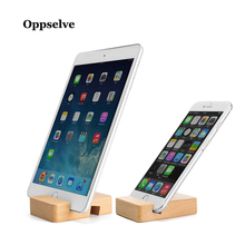 купить Oppselve Universal Mobile Phone Holder Stand Wooden Holder For Phone For iPhone Desk Tablet Stand Cell Phone Holder For Xiaomi дешево