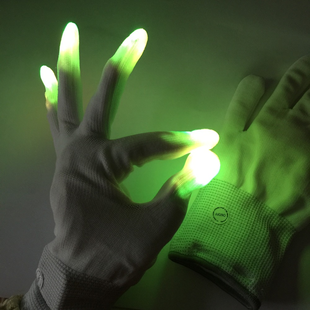 Dancing  Party Favor Magic Light Up Gloves LED Flashing Gloves For Christmas