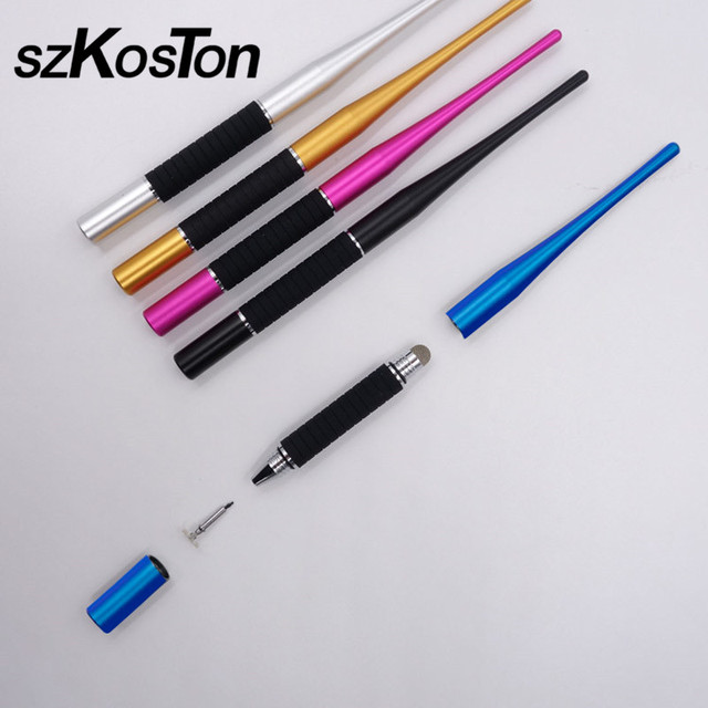 on sale d8d59 4e64c US $3.3 19% OFF|Universal 2 in 1 Capacitive Pen Touch Screen Drawing Stylus  Pens For iPhone X 7 8 For iPad Tablet Pen Portable Mini Touch Pencil-in ...