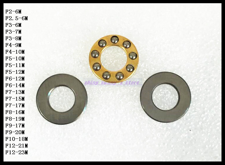 10pcs/Lot  F6-14M 6mm x 14mm x 5mm 6x14x5 mm Axial Ball Thrust Bearing Brand New