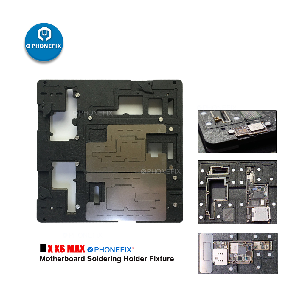 PHONEFIX New 3 In 1 Motherboard Soldering Holder Fixture For IPhone X Xs Max PCB Repair Tool BGA Reballing Stencil Fixture