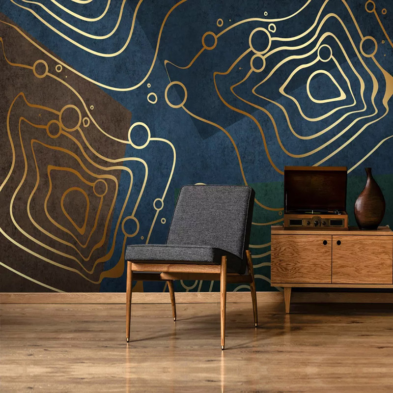 Custom Mural Wallpaper 3D Stereo Personality Abstract Geometry Luxury Mural Living Room Bedroom Self-Adhesive Removable Sticker