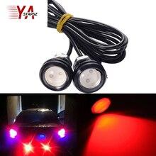 Car styling 18mm White Eagle Eye Daytime Running Light LED Car Lights DRL Lamp Daytime Light Waterproof Brake Lamps / car Lights