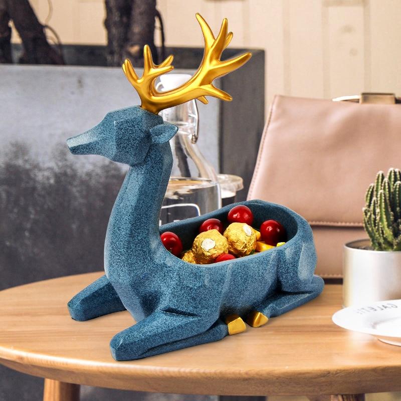 Nordic Lucky Deer Geometric Animal Sculpture Ornament Decorations