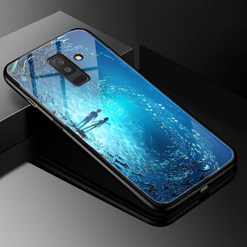 DIY Photo Customize Phone Case for Samsung Galaxy J4 plus 2018 Tempered Glass Cover Samsung Galaxy J4 prime Core J2 Prime g530 in Phone Bumpers from Cellphones Telecommunications