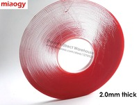 2 0mm Thick 16 5meters Long 10mm Wide Double Sided Adhesive Clear Foam Acrylic Tape For