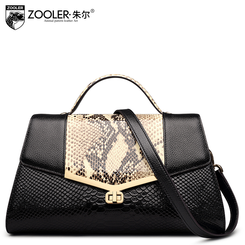 Women Genuine Leather Handbags leather Serpentine pattern Shoulder bag handbag Tote 2017 new ladies women messenger bags#D-2368