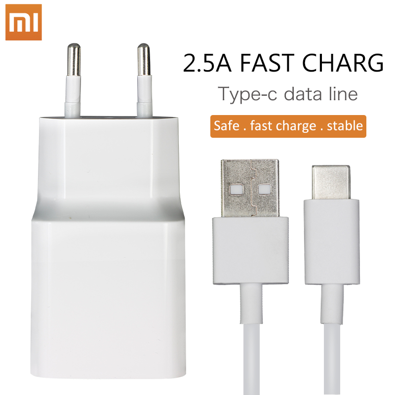 Xiaomi Original Charger 2.5A EU Quick Fast QC3.0 Type-C Micro USB Data Cable Travel Charging Adapter For Redmi Note 3 4 pro 4X 5