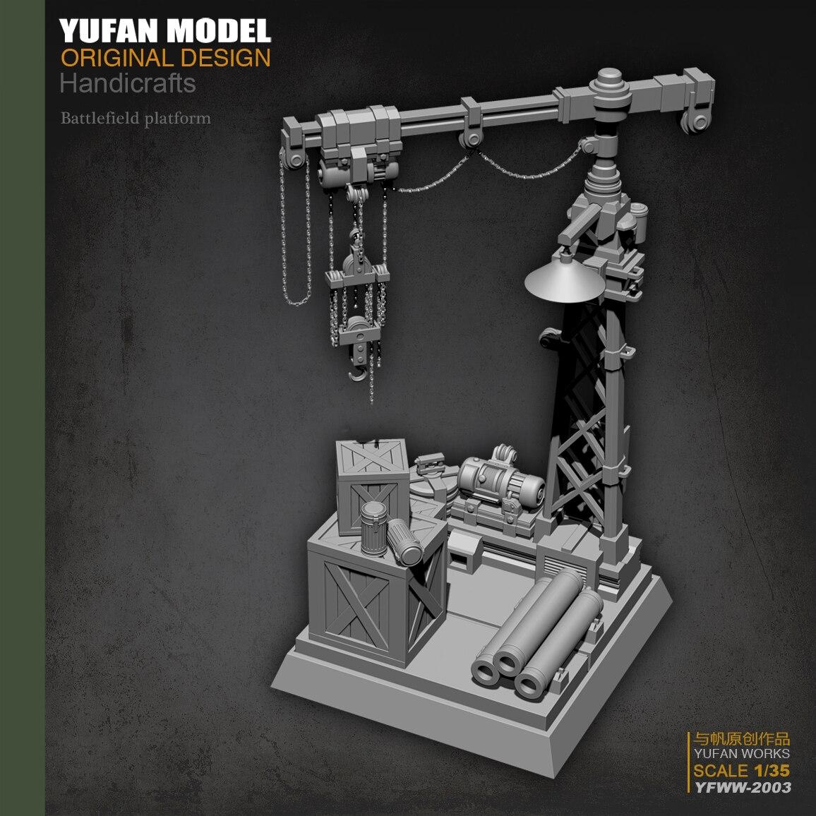 Yufan Model 1/35  Plant Platform Resin Model Yfww-2003