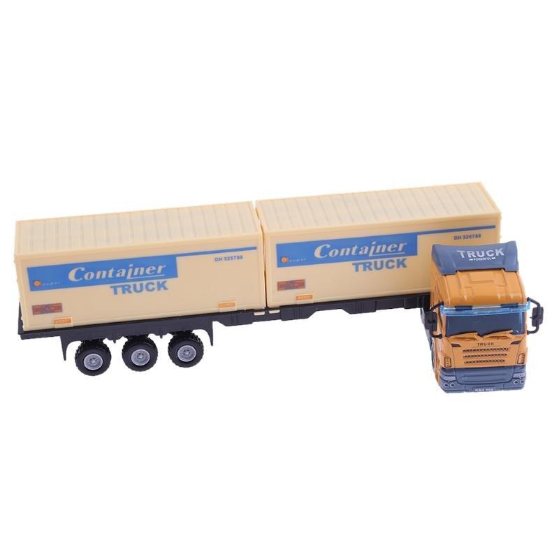 1:48 транспорта контейнеровоз сплава литья под давлением модель автомобиля моделирование модель детские игрушки автомобиля подвижные грузо...