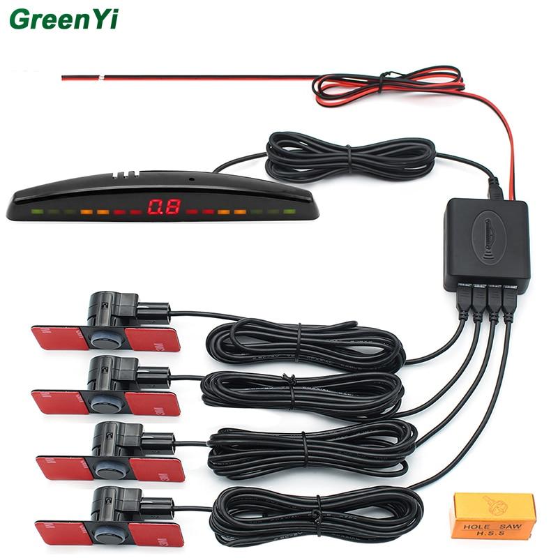 GreenYi PS302 10 шт. датчиками автоматической парковки 4 Обратный резервного Радиолокационные светодиодный Дисплей 13 мм без каблука парктроники датчики вращающийся Звук зуммер
