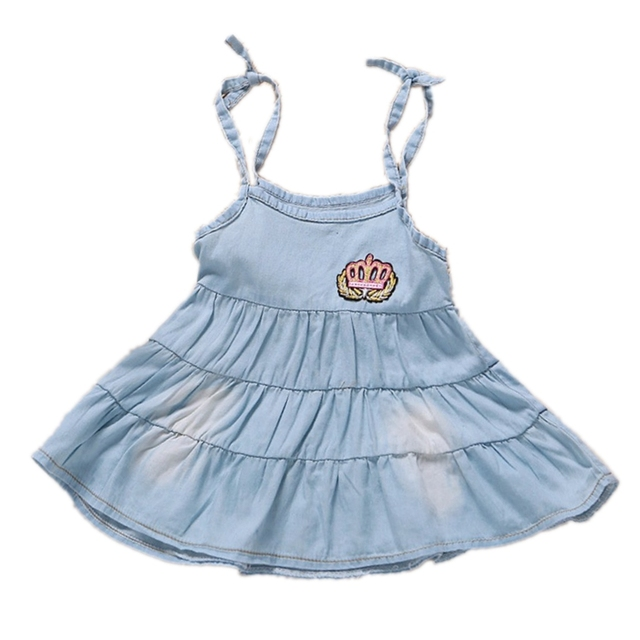 53f427f44bf 6m-3T Baby Girls Dress babe Girl Clothes Toddler Jeans Dresse Summer Straps  Denim Overalls Mini Kids Clothing 9 18 24 2 Years
