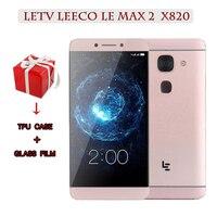 Original Letv LeEco Le Max 2 X820 FDD 4G Cell Phone 4G RAM 32G Rom 5.7 Inch Snapdragon 820 2560x1440 21MP Touch ID