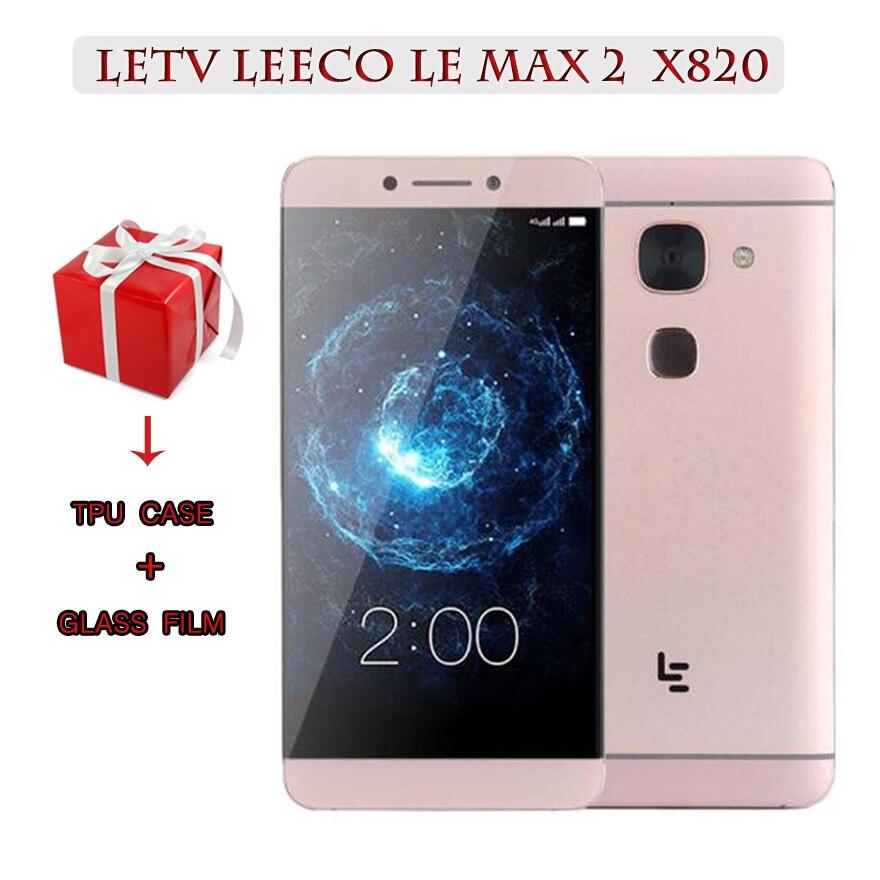 "Original Letv LeEco Le Max2 X820 FDD 4G téléphone portable 4G RAM 32G Rom 5.7 ""pouces Snapdragon 820 2560x1440 21MP Touch ID"