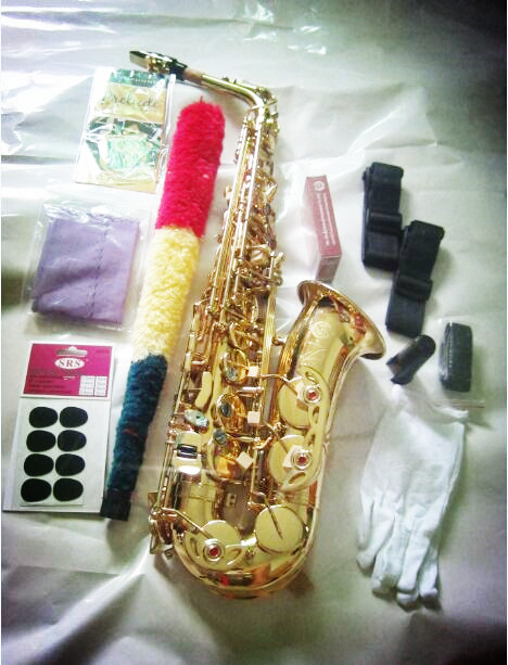 Alto saxophone  Free 802 Gold-plated alto saxophone Selmer Brands France Henri sax E Flat musical instruments professional E f selmer of france b flat tenor sax instruments shipping professional performance suitable for beginners