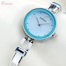 KIMIO women quartz watches luxury analog bracelet dress watch fashion brand ladies blue gold wristwatches 2017 hot female clock