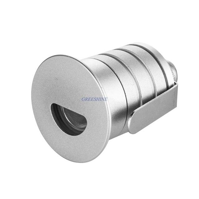 Outdoor Recessed Wall Light 1W LED Step Light 12V 24V IP67 Exterior stone Light mini led stair light 24pcs/lot DHL Freeship