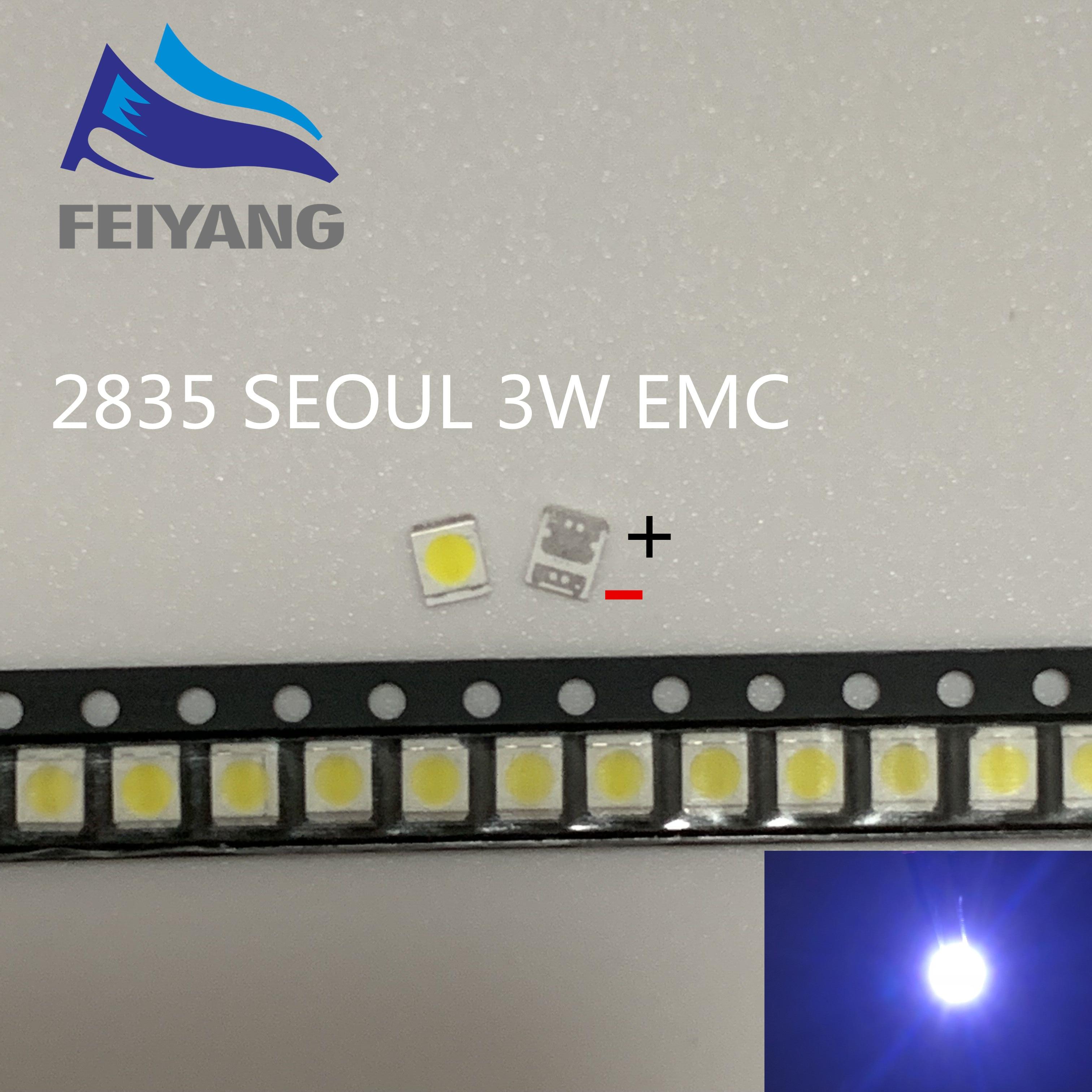 100 шт. Сеульский LG высокой мощности Светодиодный подсветка 1210 3528 2835 1 Вт 3 Вт 300Лм холодный белый SBWVT121E ЖК подсветка для ТВ приложения|Диоды|   | АлиЭкспресс
