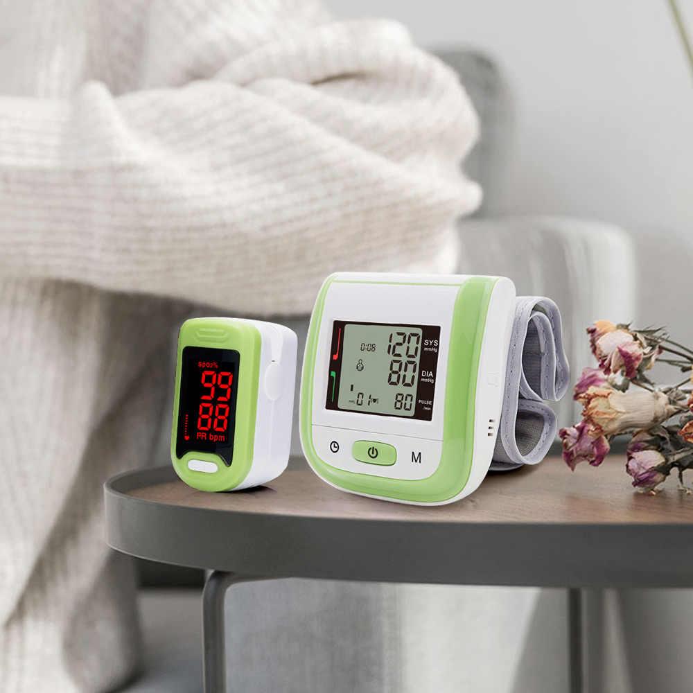 Yongrow נייד LED אצבע דופק Oximeter יד לחץ דם צג בריאות משפחה רפואי מתנה Spo2 Oximeter PR
