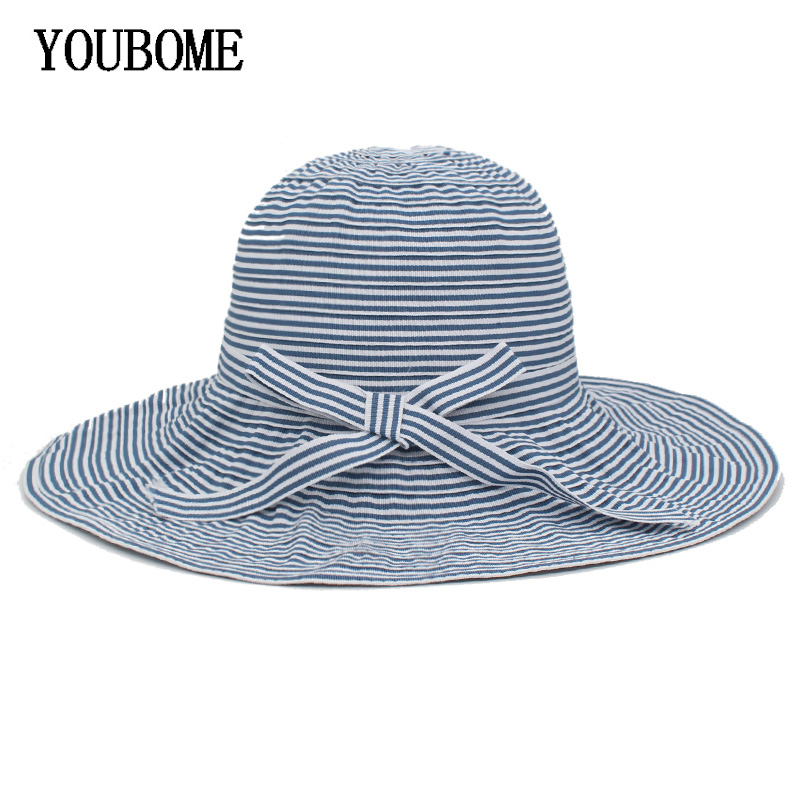Hurber Womens Wool Sun Protection Bucket Hat Floppy Foldable Wide Brim Hat Summer Beach Cap for Travel