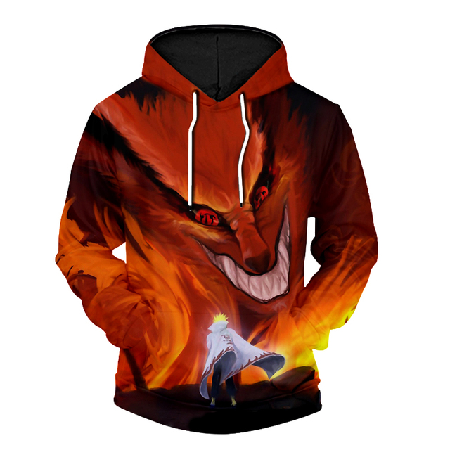 UJWI New Men Hooded Jacket Sweatshirt Fashion Cool Print Naruto Hoodie 3d Hoodie Hip Hop Harajuku Hooded Jacket 2
