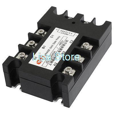 Panel Mount Rectangle Three Phase SSR Solid State Relay 3.5-32VDC/480VAC 40A 3 32vdc 480vac 80a 3p ssr solid state relay tn1 380d w indicator light