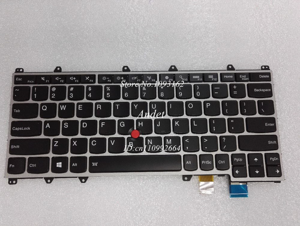 New Original For Lenovo ThinkPad Yoga 260 20FD 20GS 20GT US Layout Backlit Keyboard Backlight Silver Frame 00UR671 00UR665 new original backlight keyboard for lenovo thinkpad yoga x260 laptop fru 00ur665