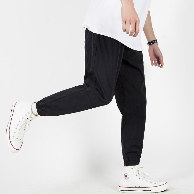 Black /Gray Comfortable Skateboard Pants Elastic Loose Joggers Pants Running Tennis Sports Trousers for Men Skateboarding tights