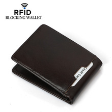 Weduoduo Wallet Men Genuine Leather Short Vintage Cow Casual Purse Standard Holders Wallets