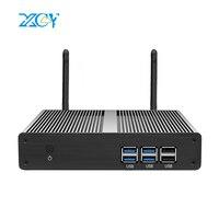 XCY Intel Core i3 7100U 6100U Mini PC Windows 10 8GB DDR3L 240GB mSATA 4K HTPC HDMI VGA 6xUSB 300M WiFi Nettop Compact Desktops