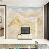 Beibehang Custom Mural Wallpaper Luxury European Marble Texture Landscape Painting Decorative TV Background Wall Cloud Song