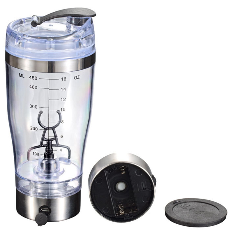 450Ml Automatic Portable Stirring Blender Battery Powered Self Stirring Milk Shake Cup Electric Coffee Cup Smart Water Bottle|Blenders| |  - title=