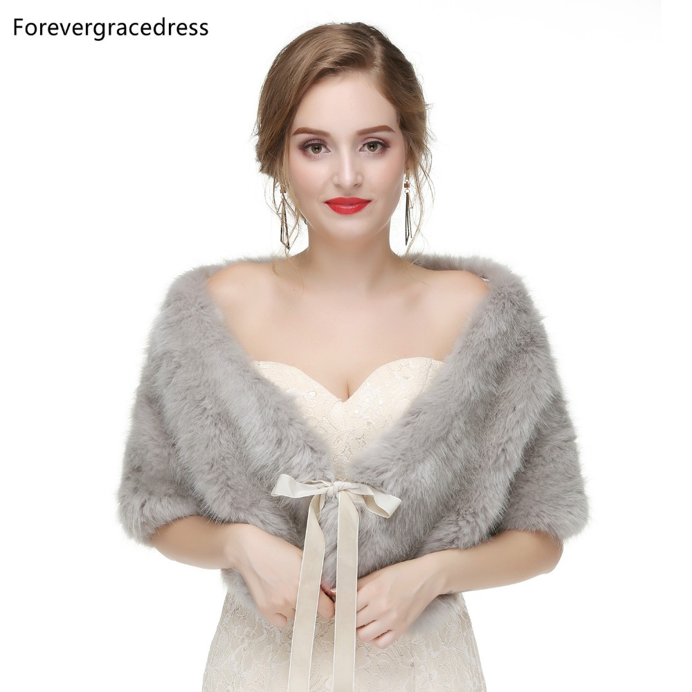 Forevergracedress 2019 Elegant Soft Autumn Winter Faux Fur Bride Wedding Wraps Bolero Jackets Bridal Coats Shawls Scarves PJ463
