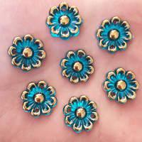 20PCS 16mm AB Acryls Flower Rhinestone Flatback Wedding Diy Button 2 Hole Crafts K297