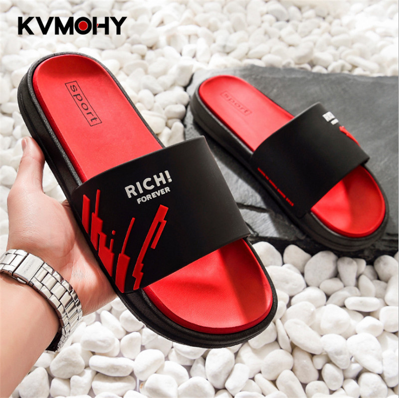 Slippers Men Shoes Summer Unisex Bathroom Slipper Male Couple Beach Sandals Fashion Home Slippers Non-slip Floor Flip Flops(China)