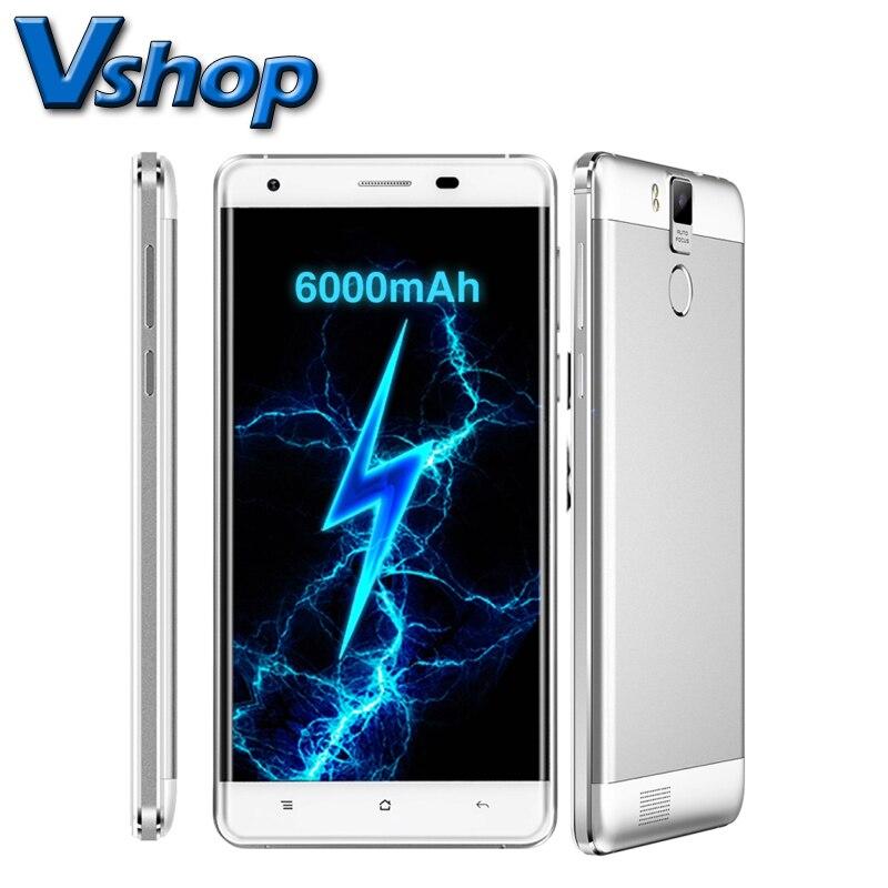 Цена за Оригинал OUKITEL K6000 Pro Android 6.0 3 ГБ RAM 32 ГБ ROM MTK6753 Octa Ядро 5.5 дюймов 4 Г Смартфон 6000 мАч 16MP Камера Поддержка FM OTG Телефон