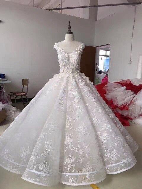 IGown Marke Hochzeit Kleid Oansatz Rose Blumen Spitze Elegante ...