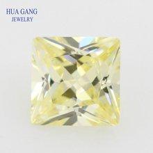 2x2 ~ 10x10 мм 5A Lomon квадратная форма Принцесса огранка CZ камень синтетические драгоценные камни кубический цирконий для ювелирных изделий