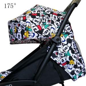 Image 1 - Капюшон и матрас для коляски 175 Yoya Baby Throne Oxford тканевая задняя часть с сетчатыми карманами Yoya аксессуары для коляски Подушка для Yoyo