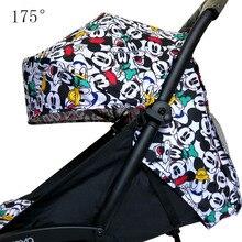 Stroller Hood & Mattress For 175 Yoya Baby Throne Oxford Cloth Back With Mesh Pockets Yoya Stroller Accessories Cushion For Yoyo