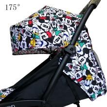 Yoya capot et matelas pour poussette 175, coussin en tissu Oxford avec poches en maille, accessoires pour poussette Yoya