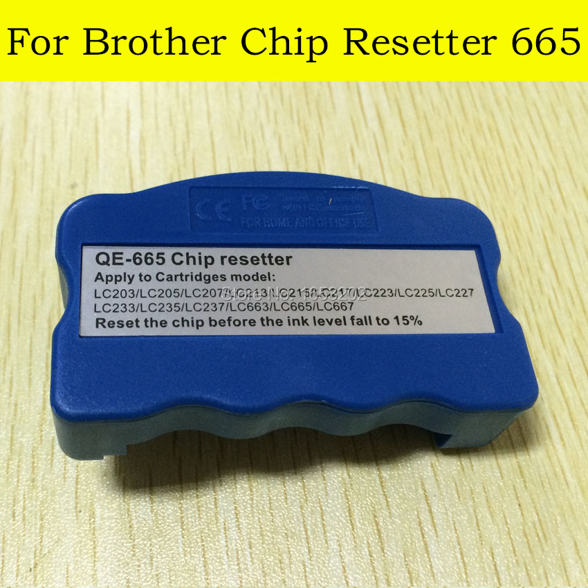 1 PC Chip Resetter For Brother LC203/LC207/LC209/LC213/LC217/LC219/LC223/LC227/LC229/LC665/LC669/LC233/237/239/ Printer