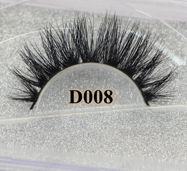 wholesale Free shipping fashion style new arrival 3D D008 premium handmade 100 real siberian mink strip