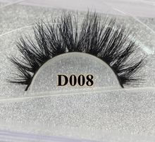 wholesale Free shipping fashion style new arrival 3D D008 premium handmade 100% real siberian mink strip eyelashes
