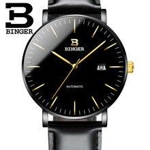 8580d6c2f6c Suíça BINGER Relógios Homens Moda Relógio de Pulso reloj hombre Relogio  masculino Seiko Movimento Mecânico Automático