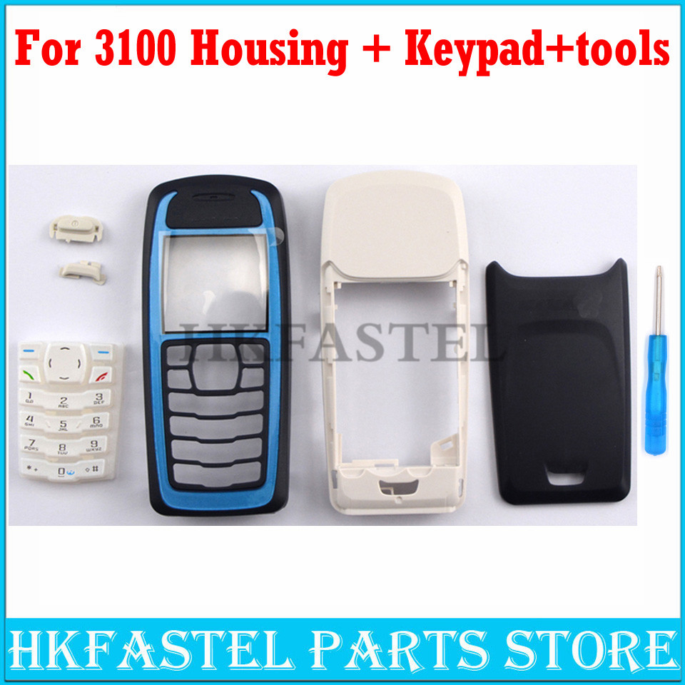 HKFASTEL New High Quality Cover For Nokia 3100 Full Complete Mobile Phone Housing Cover Keypad Replacement Parts Keyboard Tool