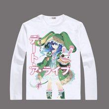 Anime Unisex DATE A LIVE Tokisaki Kurumi Printed T-shirts Long Sleeve Lovely Yoshino Tops Yatogami Tohka Tees Plus Size